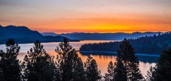 Flathead Lake at Sunset